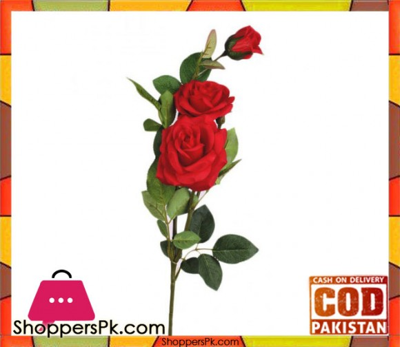 The Florist Red Special Rubber Rose on Stick - FL113