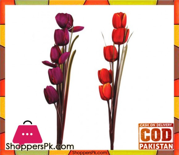 The Florist Multicolored Artificial Tulip Sticks - 2 Pieces - FL116