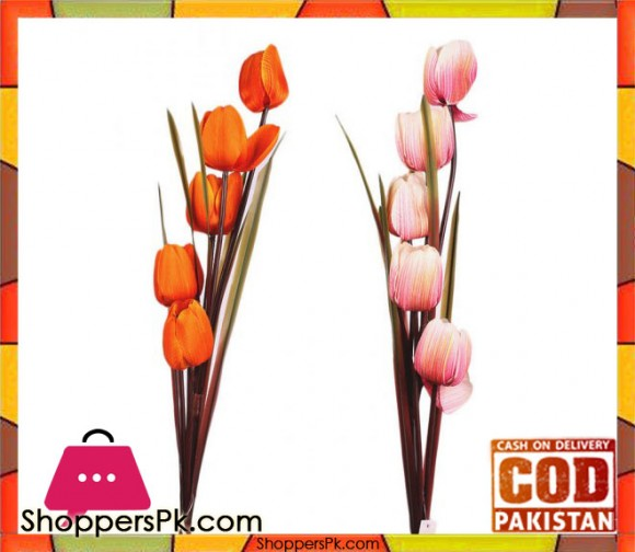 The Florist Multicolored Artificial Tulip Sticks - 2 Pieces - FL117