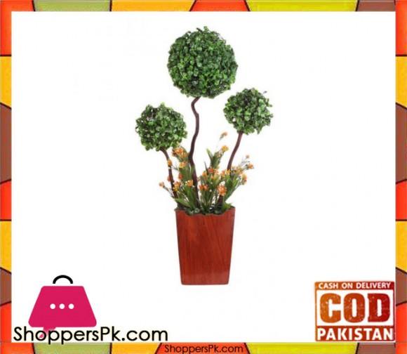 The Florist Artificial Premium Imported Bonsai Ball Rubber Plant with Pot- FL119