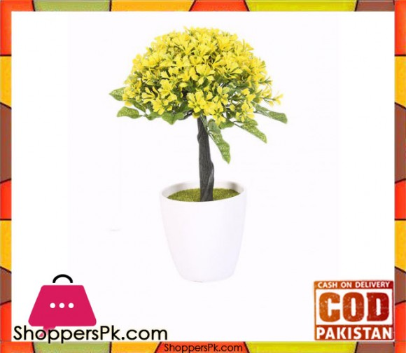 The Florist Yellow Artificial Flower in Melamine Pot - FL4