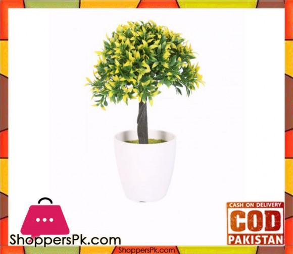The Florist Yellow Artificial Flower in Melamine Pot - FL5