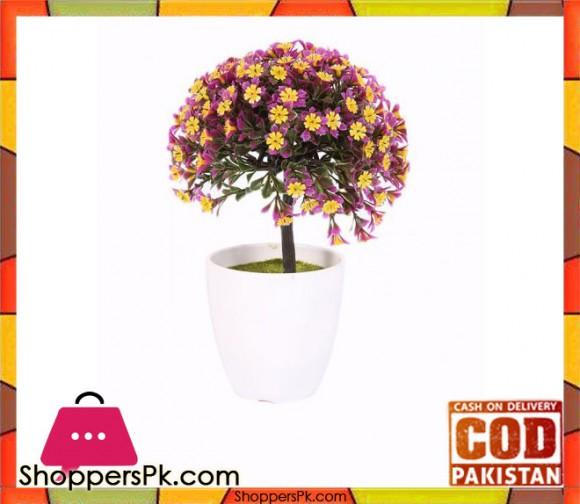 The Florist Yellow/Purple Artificial Flower in Melamine Pot - FL9