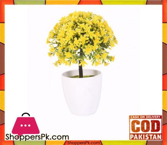 The Florist Yellow Artificial Flower in Melamine Pot - FL10