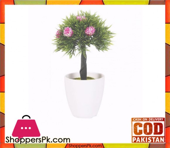 The Florist Artificial Plant with Pink Flower in Melamine Pot - FL12