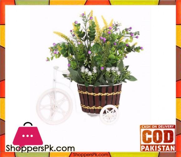 The Florist Purple Artificial Flower on Metal Cart - FL20