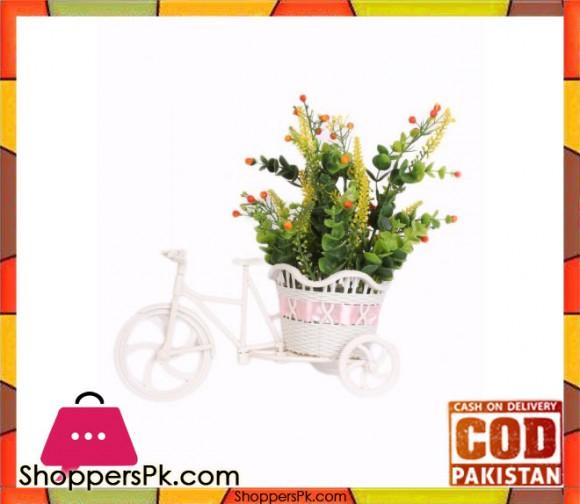 The Florist Multicolored Artificial Flower on Plastic Cart - FL24