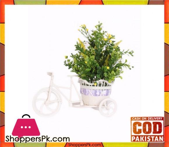 The Florist Multicolored Artificial Flower on Plastic Cart - FL25
