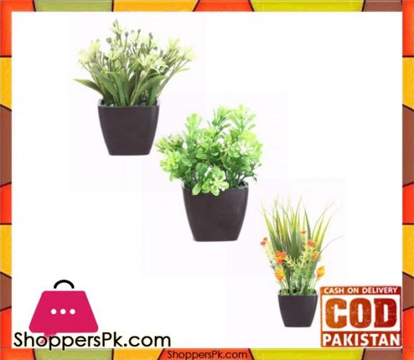 The Florist Multicolored Artificial Flower & Pot Arrangements - 3 Pieces Set - FL33