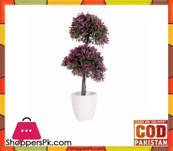 The Florist Purple Artificial Plant with Pot - FL36