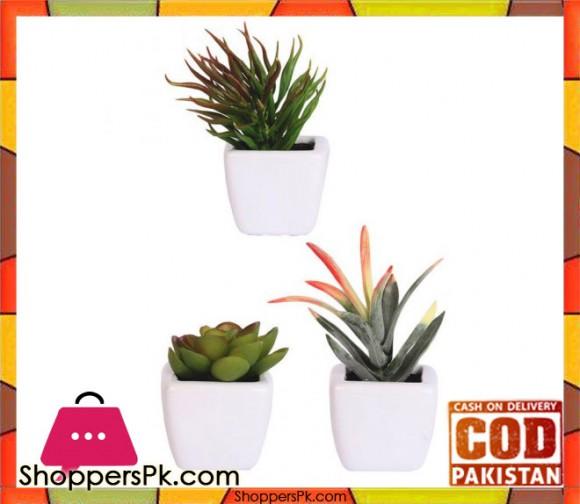 The Florist Artificial Plant with Small Pots - 3 Pieces Set - FL77