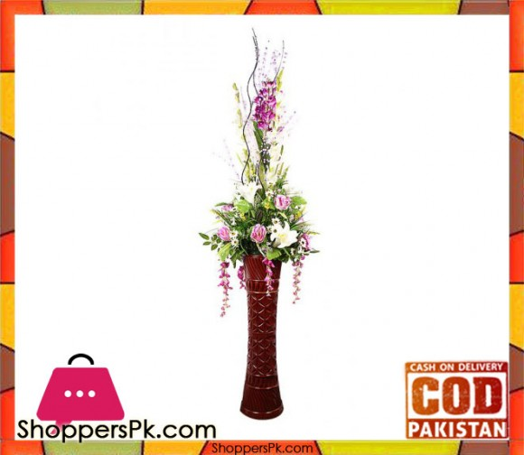 The Florist FLOR3 - Purple Rose Tulip Flower Arrangement With Fibre Vase