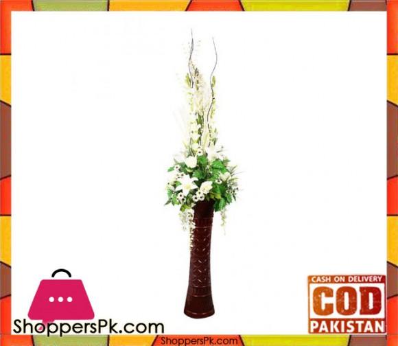 The Florist FLOR2 - White Tulip Rose Flower Arrangement with Fibre Vase