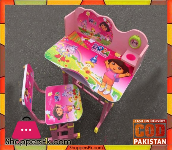 Kids Study Table And Chair Dora