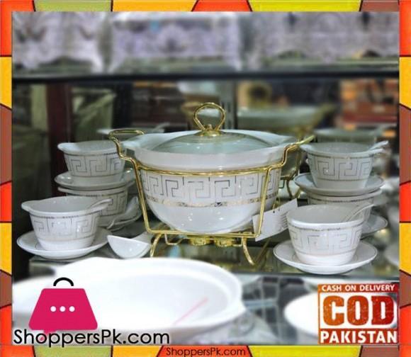 Soup Set 22 Pcs Round White Porcelain WD-302