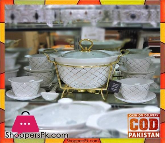 Soup Set 22 Pcs Round White Porcelain WD-303