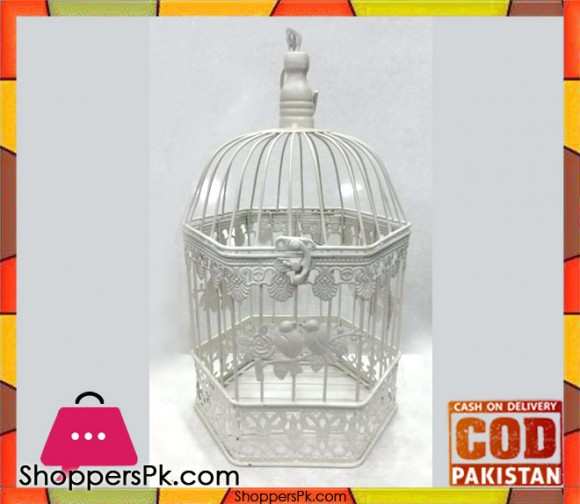 Vintage Style Metal Bird Cage Small 0-6