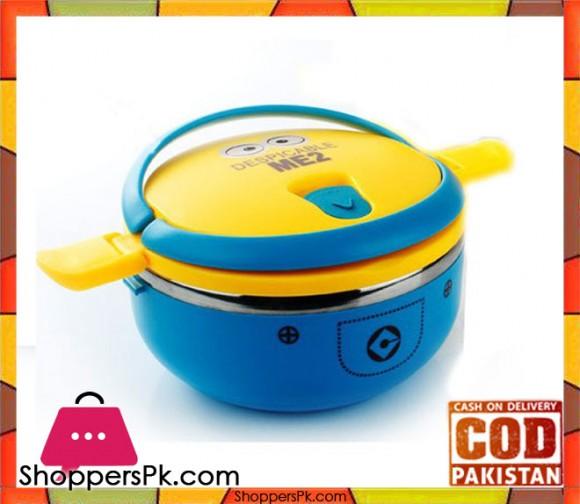 1 Layer Minion Cartoon Lunch Box For Kids