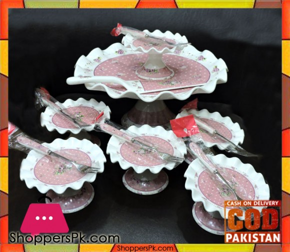 14 Pcs Cake Set Porcelain