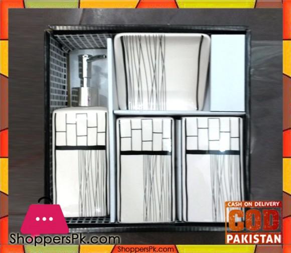 4Pcs Ceramic Bathroom Set A-1