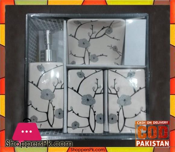 4Pcs Ceramic Bathroom Set A-2