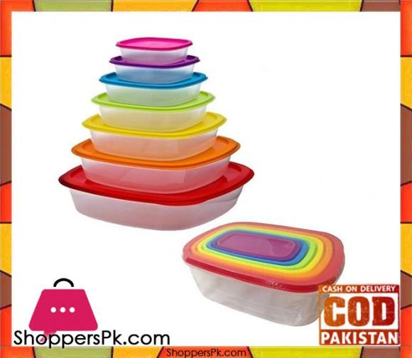 7 Pcs Rainbow Rectangle Storage Box
