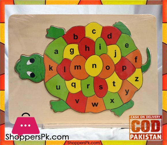 Early Educational Wooden Puzzle Toy Alphabet Turtle