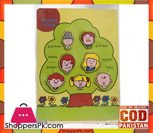 Early Educational Wooden Puzzle Toy Family