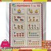 Early Educational Wooden Puzzle Toy Numbers 1-10