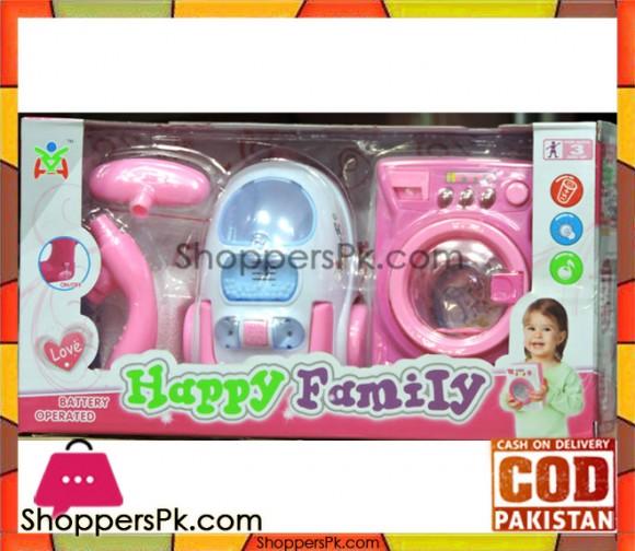 Happy Family Battery Operated Washing Machine Vacuum Cleaner