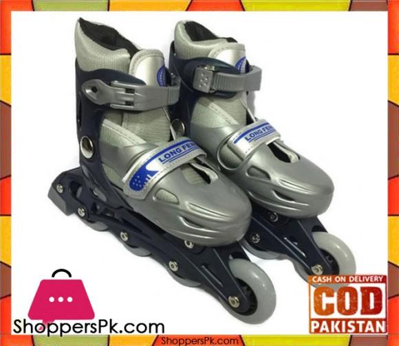 Long Feng Hard Boot Adjustable Inline Skate Grey Medium