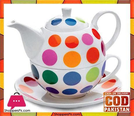 Symphony Alfresco Muti Dots Tea Pot SY7108