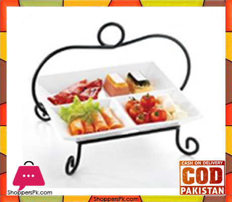 Symphony Alfresco Pastry Holder 3 Division With Rack ES3854