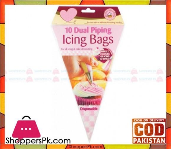 10 Pcs Dual Piping Icing Bags Disposable