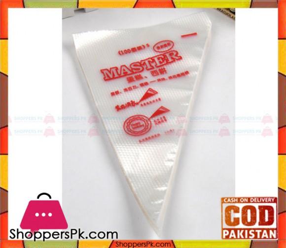 100 PCS Decorating Icing Piping Bag Disposable (Small)