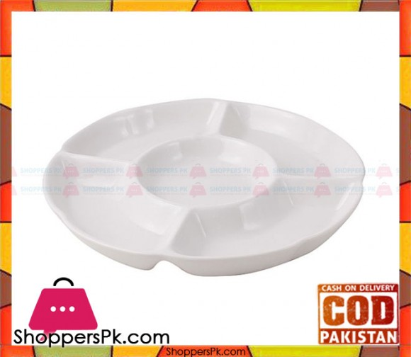 BRILLIANT Partition Serving Platter 9.75 Inches BR0068