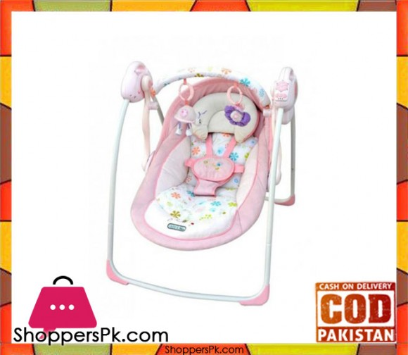 Electrical Rotating Swing Baby Bouncer Pink Model No 32009