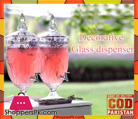 Glass Beverage Dispenser #AAA-1 For 1 Pcs - Karachi Only