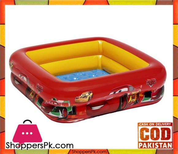 Intex Cars Play Box Pool - 2.7 x 2.7 x 0.75 Feet - Age 1+ - 57101