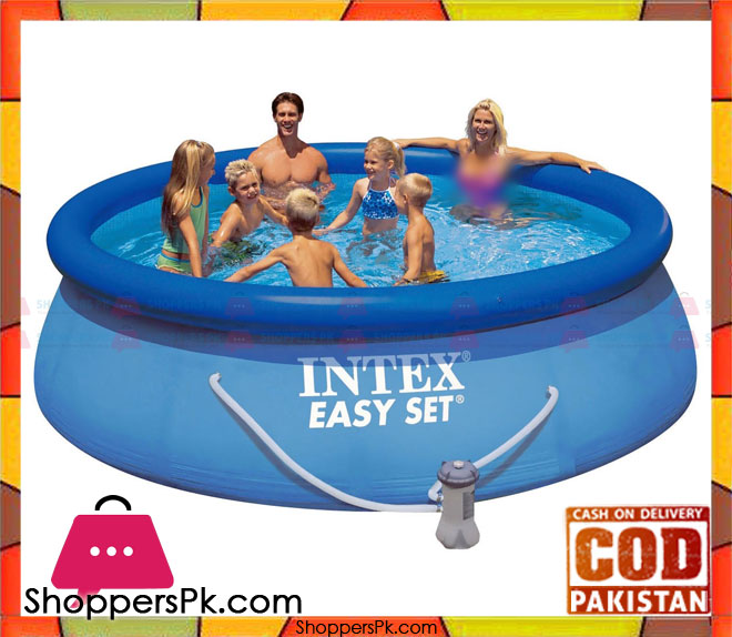 buy intex easy set up 12 foot x 36 inch pool with filter pump 28146 at best price in pakistan. Black Bedroom Furniture Sets. Home Design Ideas