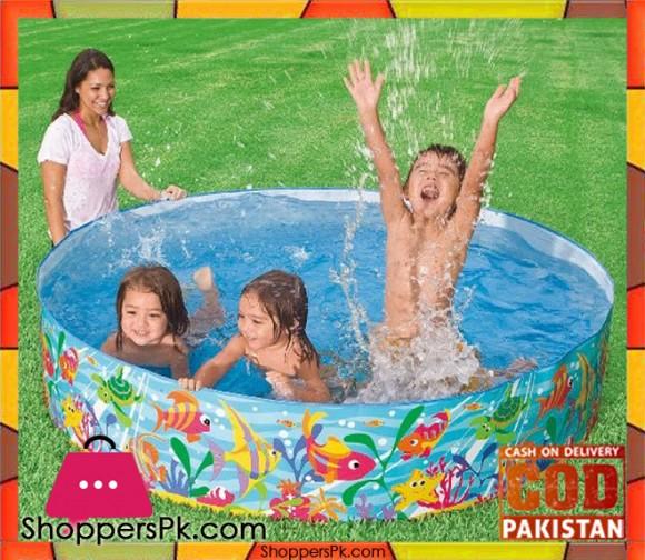 Intex Ocean Place Snap Set Swimming Pool - 6 x 1.24 Feet - Age 1+ - 56452
