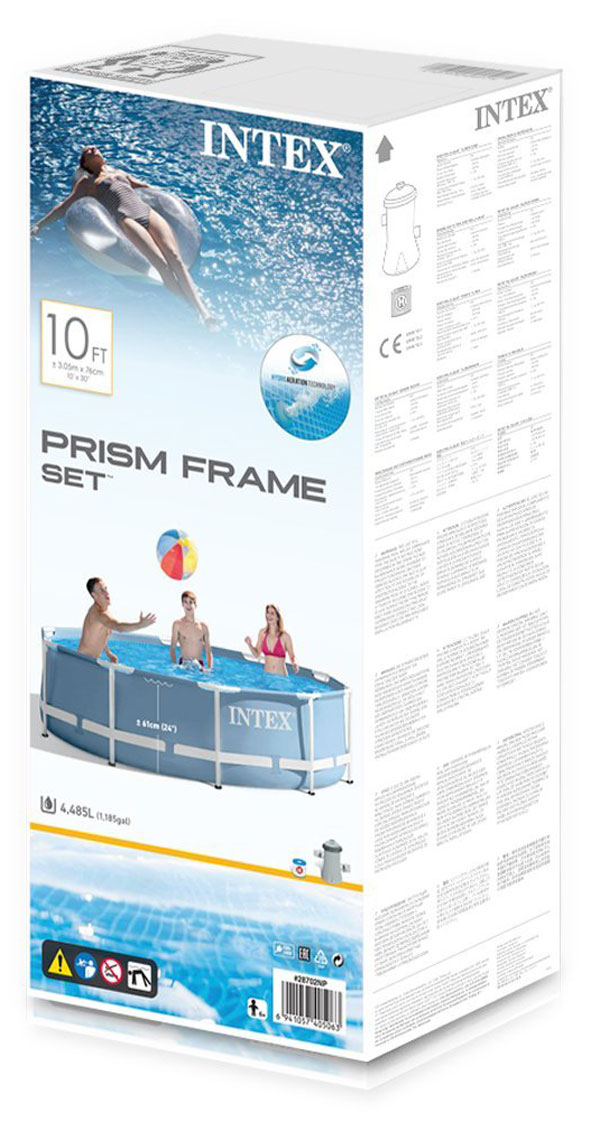 Buy intex prism frame pool with filter 10ft x 30in 28702 at best price in pakistan - Intex prism frame ...