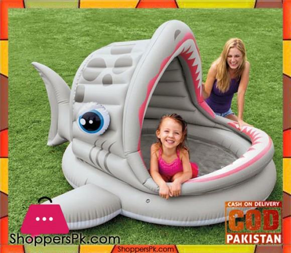 Intex Roarin' Shark Inflatable Shade Pool - Age 3-6 - - 57120