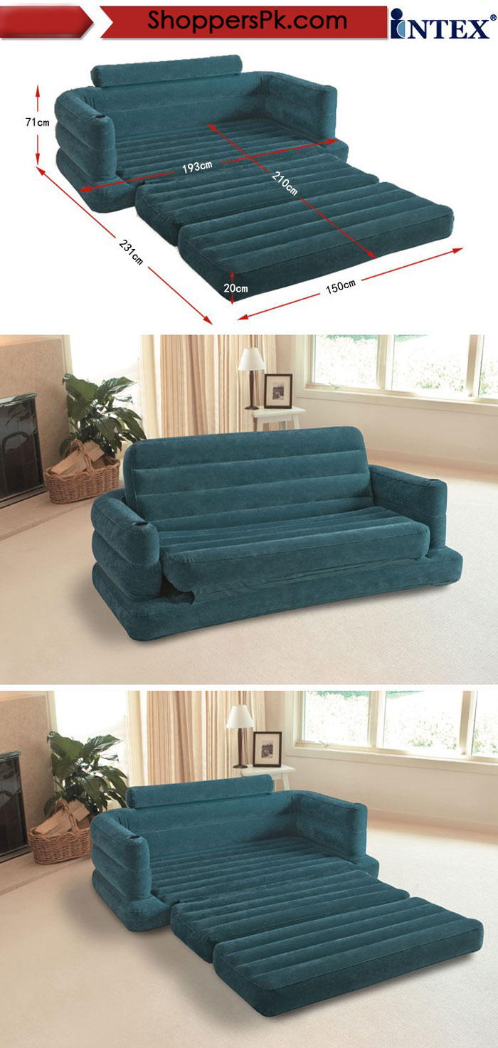 Intex Two Person Inflatable Pull Out Sofa Bed - 68566
