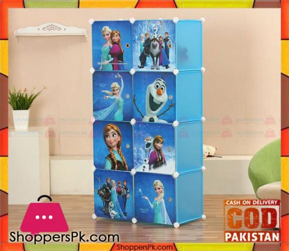 Portable 8 Cubes Cabinet Frozen