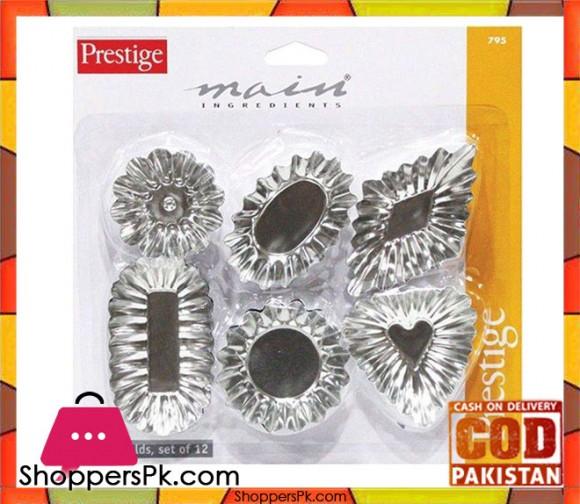 Prestige Tart Mould 12 Pcs Set PR795