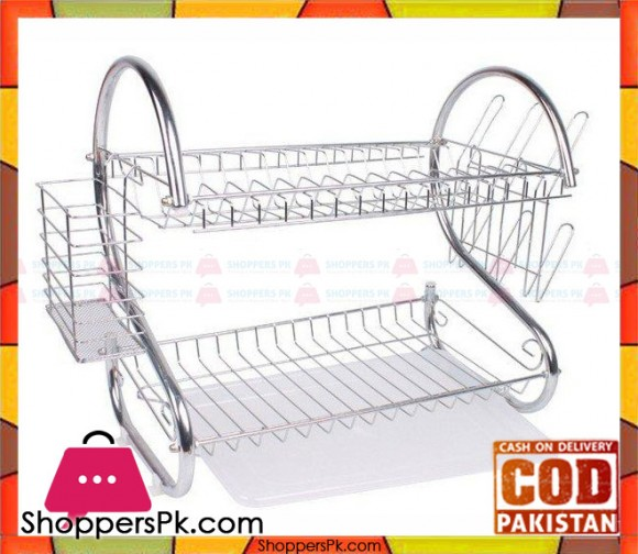 Stainless Steel Dish Rack 2 Tier