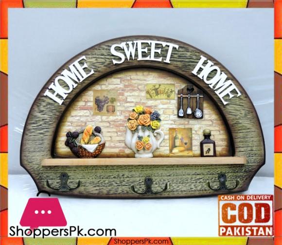 Wooden Key Holder Home Sweet Home