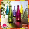 Colored Glass Bottle Candle Holder