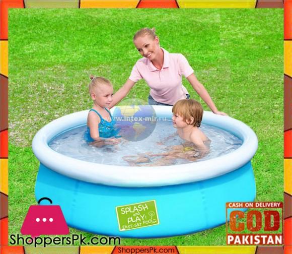 Bestway Fast Set Inflatable Ground Pool - 5 x 1.2 Feet - Age 3+ #57241